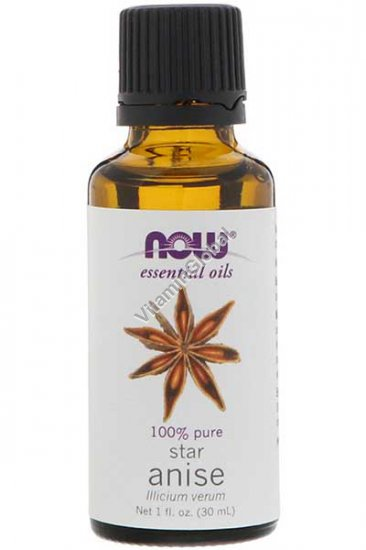 Масло аниса 30 мл - Now Essential Oils