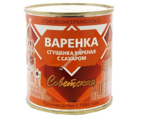 Варенка - сгущенка вареная с сахаром 380 гр - Кореновский комбинат