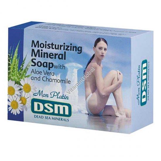 Увлажняющее кусковое мыло на основе минералов Мертвого моря 125 гр - Mon Platin DSM