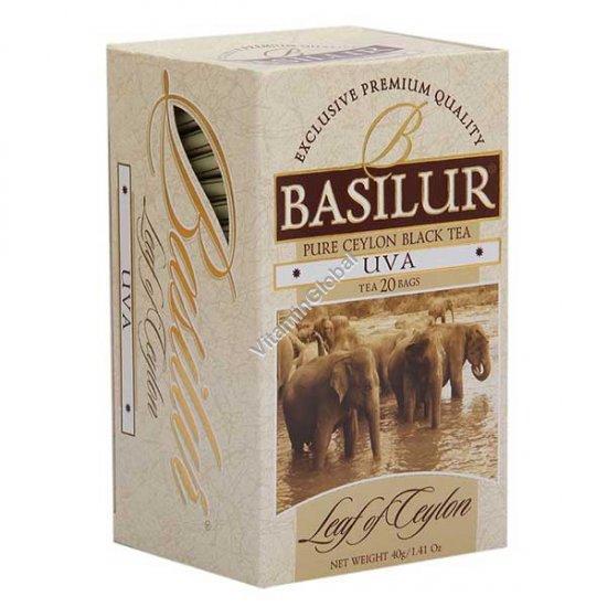 Цейлонский черный чай UVA 20 пакетиков - Basilur