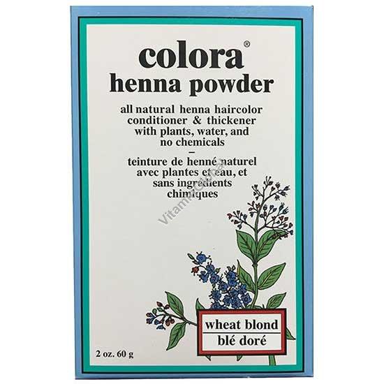 Хна для волос цвет пшеничный блонд 60 гр - Colora
