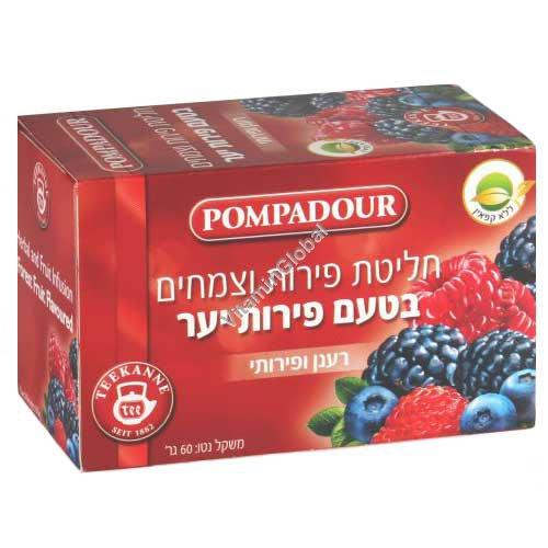 Чай - лесные ягоды 20 фильтр-пакетиков - Помпадур