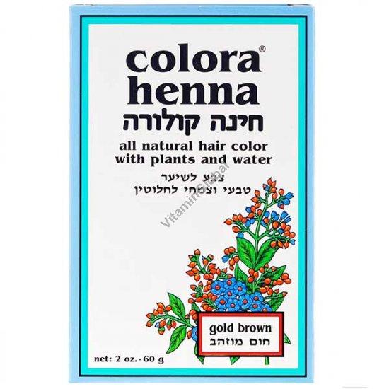 Хна для волос цвет золотисто-коричневый 60 гр - Colora