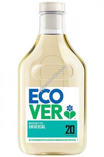 Концентрированнное универсальное жидкое средство для стирки с запахом жимолости и жасмина 1 литр - Эковер