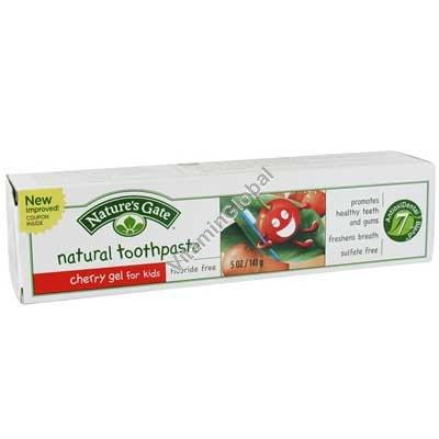 Натуральная детская зубная паста вишневый гель 141 гр - Nature\'s Gate