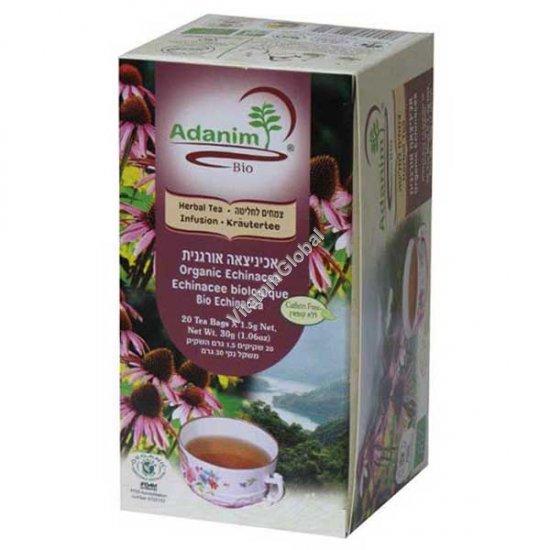 Органическая эхинацея, мята и шиповник 20 фильтр-пакетиков - Аданим