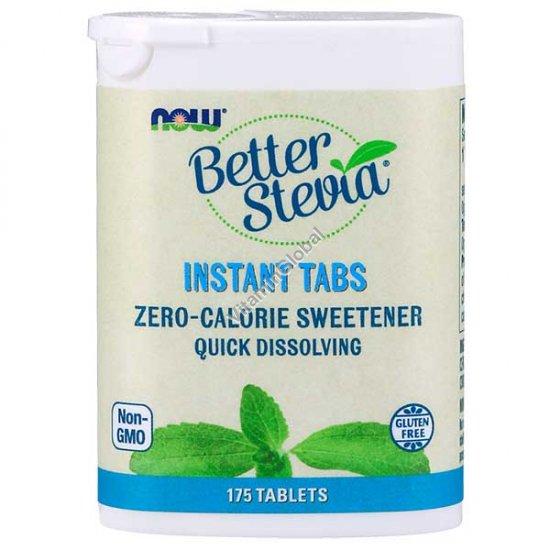 Стевия 175 быстрорастворимых таблеток - Now Foods
