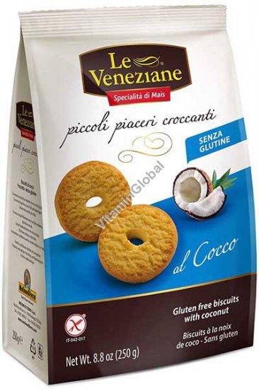Безглютеновое печенье с кокосом 250 гр - Le Veneziane