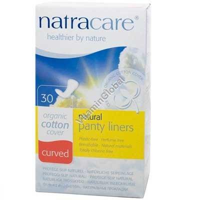 Ежедневные органические гигиенические закругленные прокладки 30 шт - Natracare