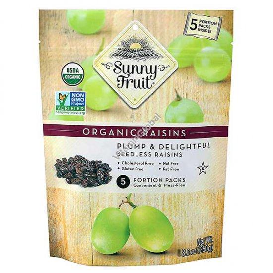 Органический изюм без косточек 250 гр (5 порционных упаковок) - Sunny Fruit