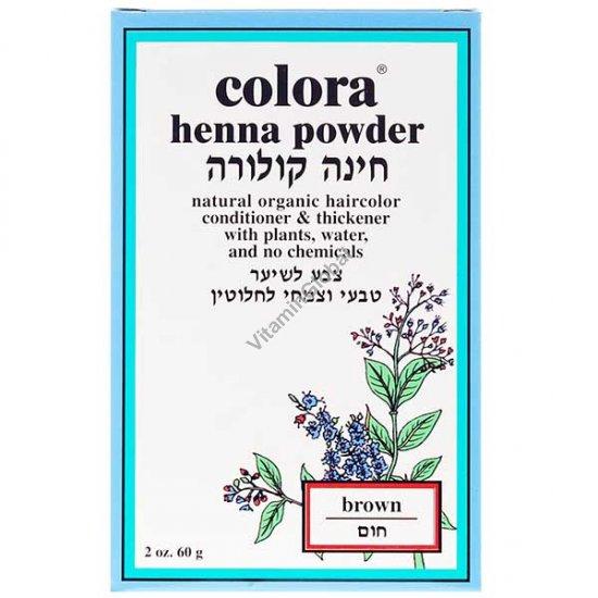 Хна для волос цвет коричневый 60 гр - Colora