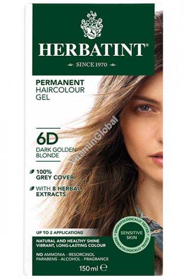 Краска для волос темно-золотистый блонд (6D) - Гербатинт