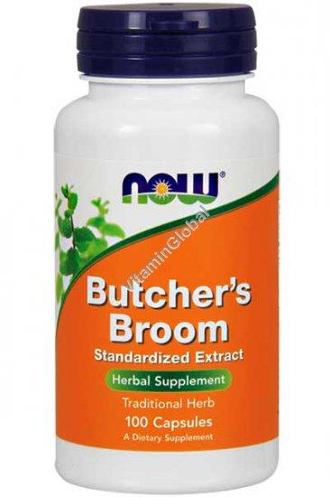 Бутчерс Брум (иглица понтийская) экстракт 100 капсул - Now Foods