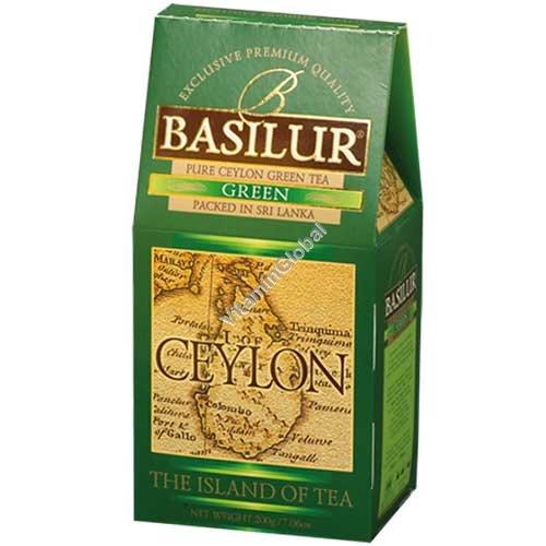 """Премиум зеленый цейлонский чай """"Чайный остров Цейлон"""" 100 грамм - Basilur"""