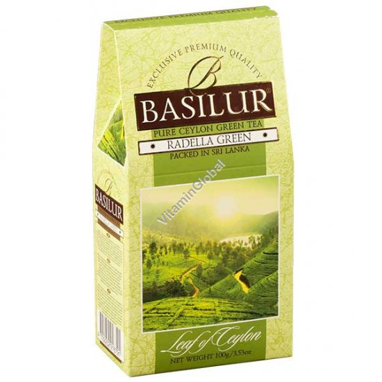 Зеленый цейлонский чай Раделла 100 грамм - Basilur
