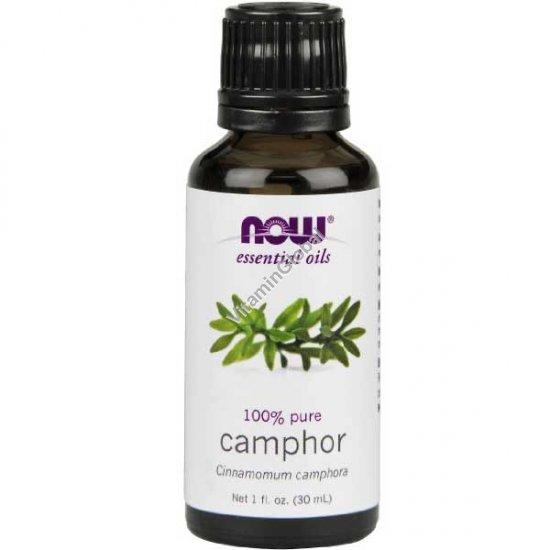 Камфорное эфирное масло 30 мл - Now Foods