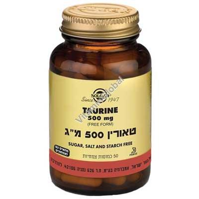 Таурин 500 мг 50 растительных капсул - Солгар
