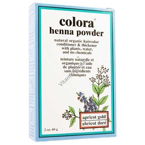 Хна для волос цвет золотистый абрикос 60 гр - Colora