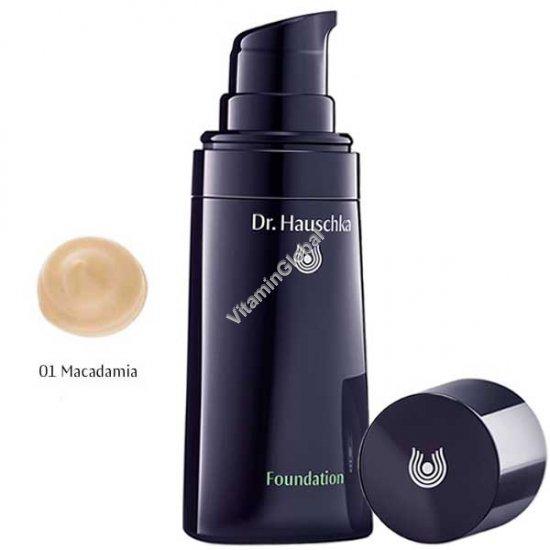 Крем тональный для кожи лица, тон 01 светлый (оттенок макадамия) 30 мл - Доктор Хаушка