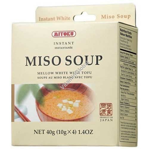 Мисо суп с тофу быстрого приготовления 4 одиночные порции - Mitoku
