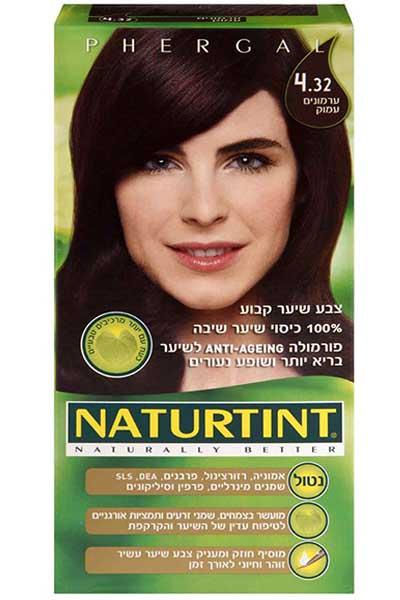 Стойкая краска для волос, цвет глубокий каштановый 4.32 - Натуртинт