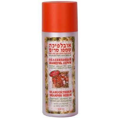 Облепиховый шампунь серум для сухих, крашенных и повреженных волос 400 мл - М. Д. Фарм