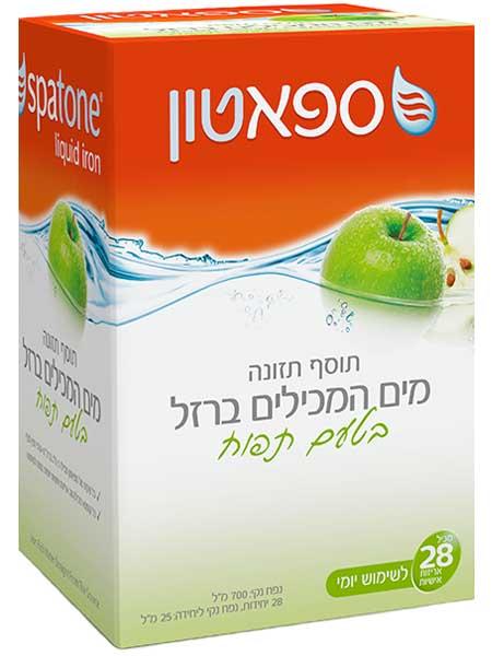 Спатон - обогащенная железом вода с яблочным вкусом 700 мл (28 индивидуальных порций по 25 мл)